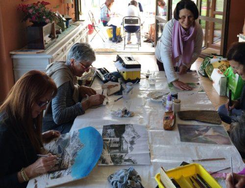 Laboratorio di pittura alla Fiera dell'Artigianato