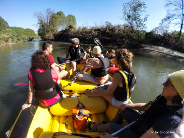 Rafting sul Po