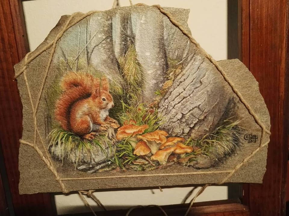 Rita Conti, scoiattolo nel sottobosco